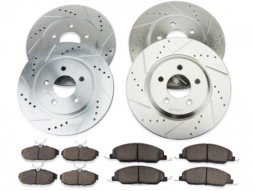 2003 2004 2005 Hummer H2  Disc Brake Rotors and Free Pads Front
