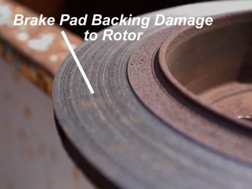brake pad damage